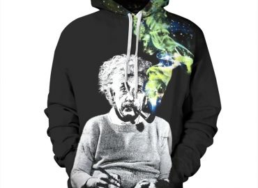 Chill Hoodies Black Albert Einstein Hoodie Galaxy Unisex Adult Sweatshirt