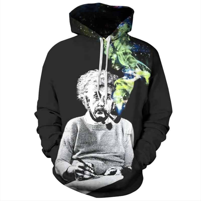 Chill Hoodies Black Albert Einstein Hoodie Galaxy Unisex Adult Sweatshirt