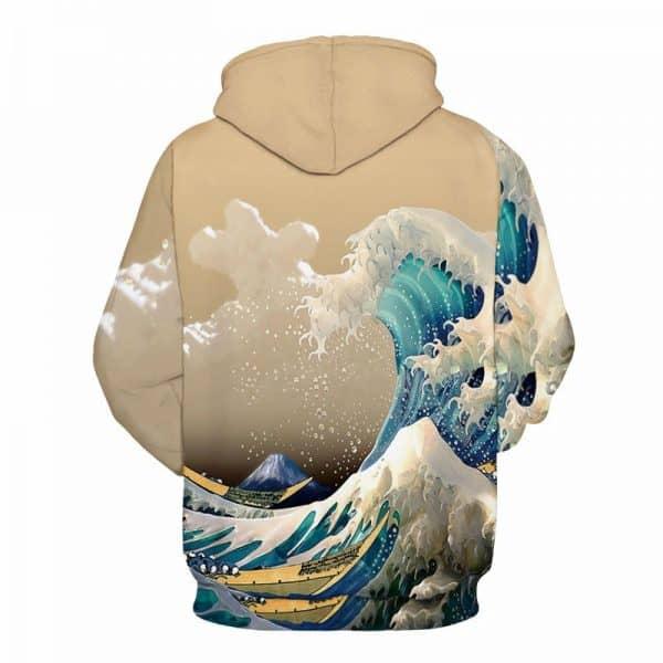 waves crashing hoodie