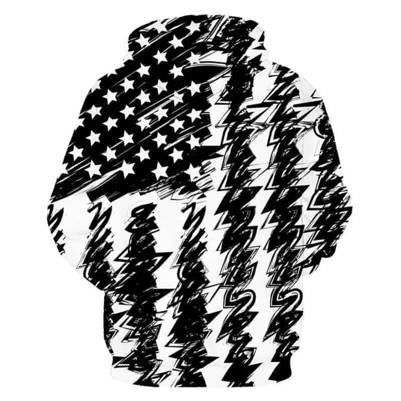 american flag hoodie back
