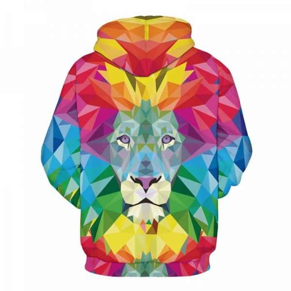 colorful lion hoodie