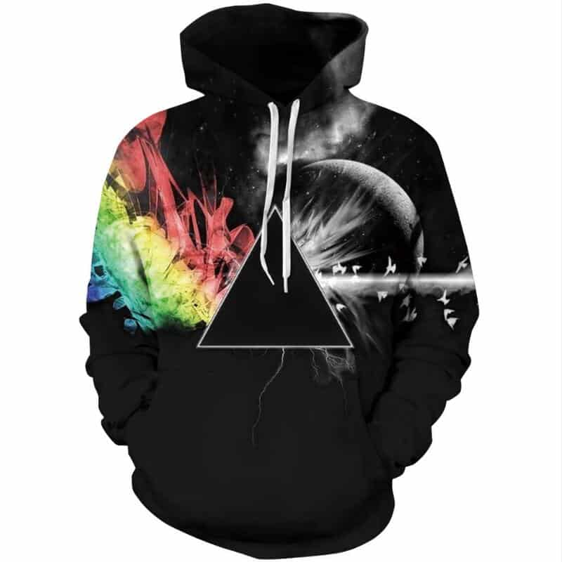 Chill Hoodies Abstract Prism Hoodie Tiangle Illuminati Unisex Adult Sweatshirt