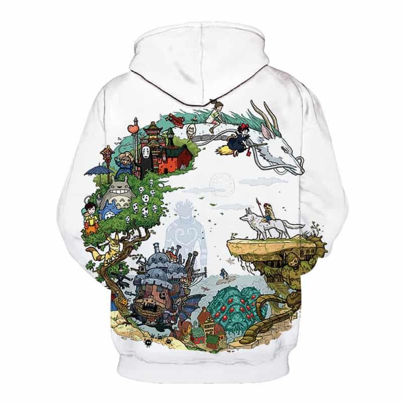 Chill Hoodies Sweatshirts Men Women Kids Adult Creative 30 Years of Studio Ghibli Hoodie 1