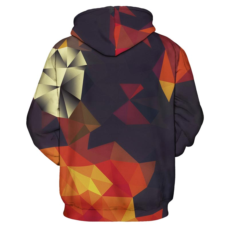 autumn geometry hoodie back