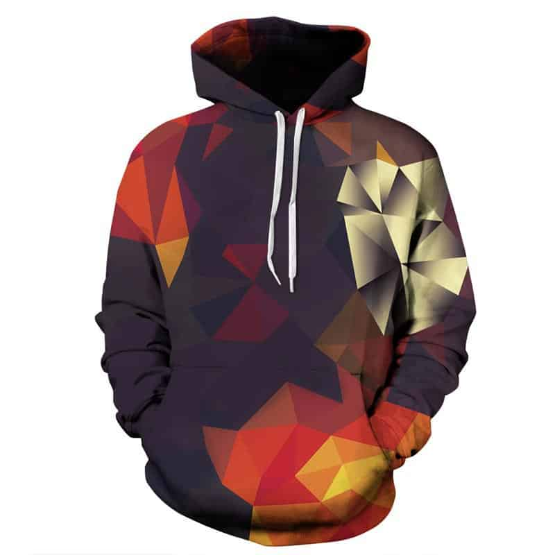 Chill Hoodies Autumn Geometry Hoodie Unisex Adult Sweatshirt