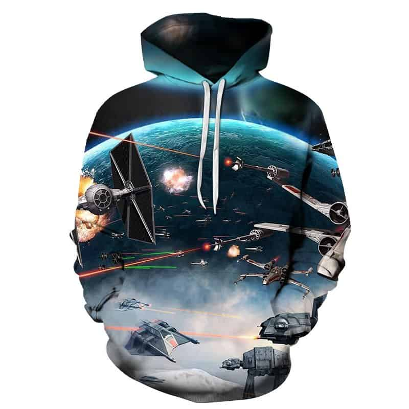 Chill Hoodie Battlefront Starwars Hoodie Space Battle Death Star Unisex Adult Sweatshirt