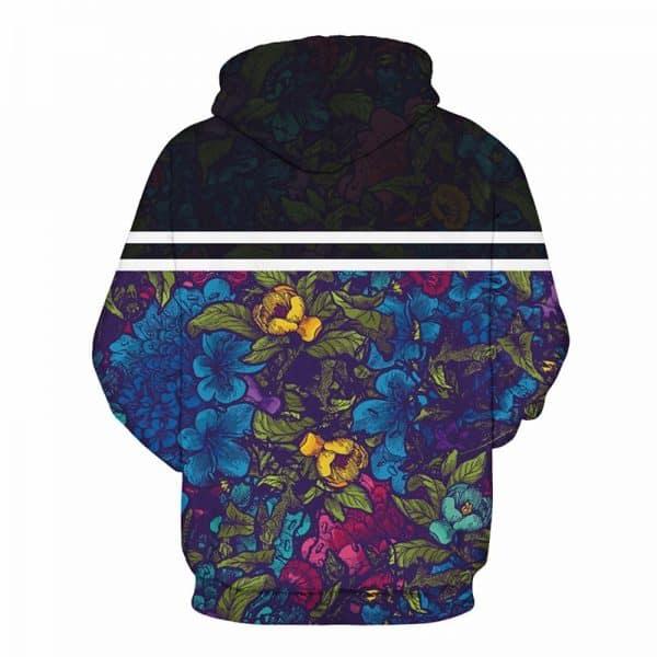 floral pattern hoodie
