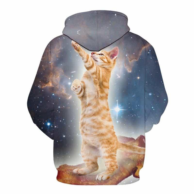 Chill Hoodies Sweatshirts Men Women Kids Adult Casual Galaxy Cat Hoodie 1