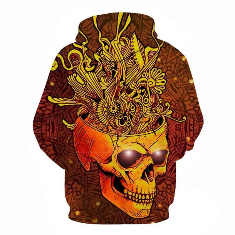 creative skull hoodie