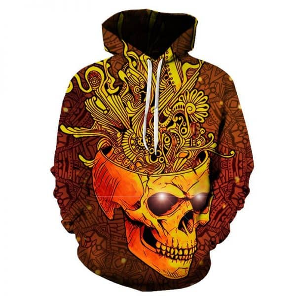 Chill Hoodies Creative Skull Hoodie Tribal Imagination Unisex Adult Sweatshirt
