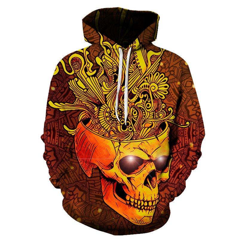 Chill Hoodies Creative Skull Hoodie Tribal Imagination Unisex Adult Sweatshirt