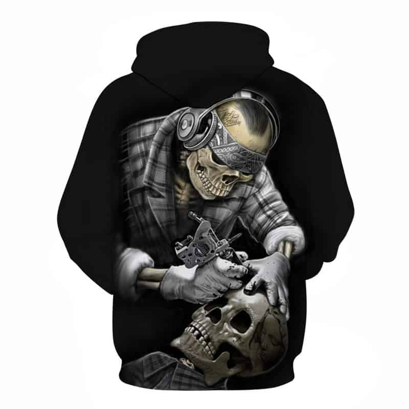 Chill Hoodies Sweatshirts Men Women Kids Adult Skeleton Tattoo Artist Hoodie 1