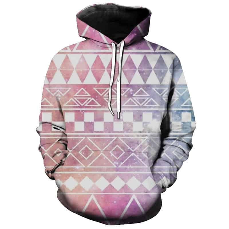 Chill Hoodies Diamond Checkers Hoodie Abstract Pattern Unisex Adult Sweatshirt
