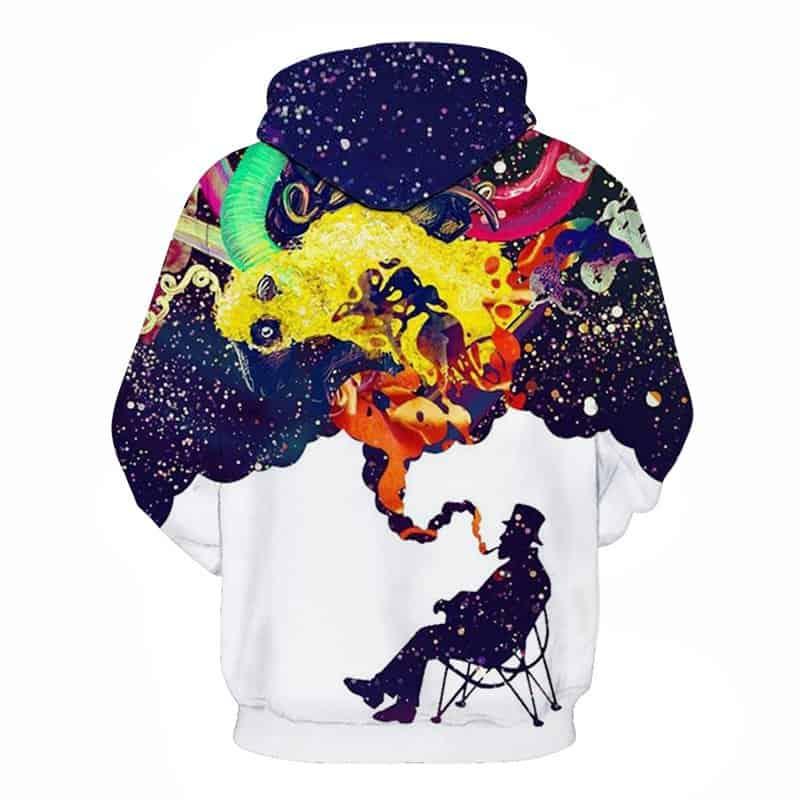 galaxy smoking hoodie