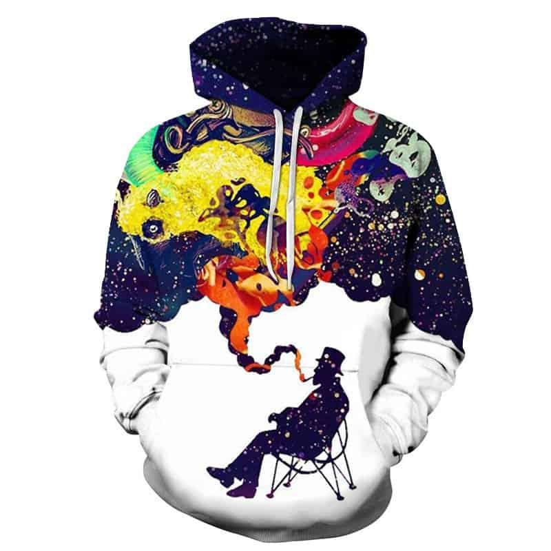 Chill Hoodies Galaxy Smoking Hoodie Space Smoke Unisex Adult Sweatshirt