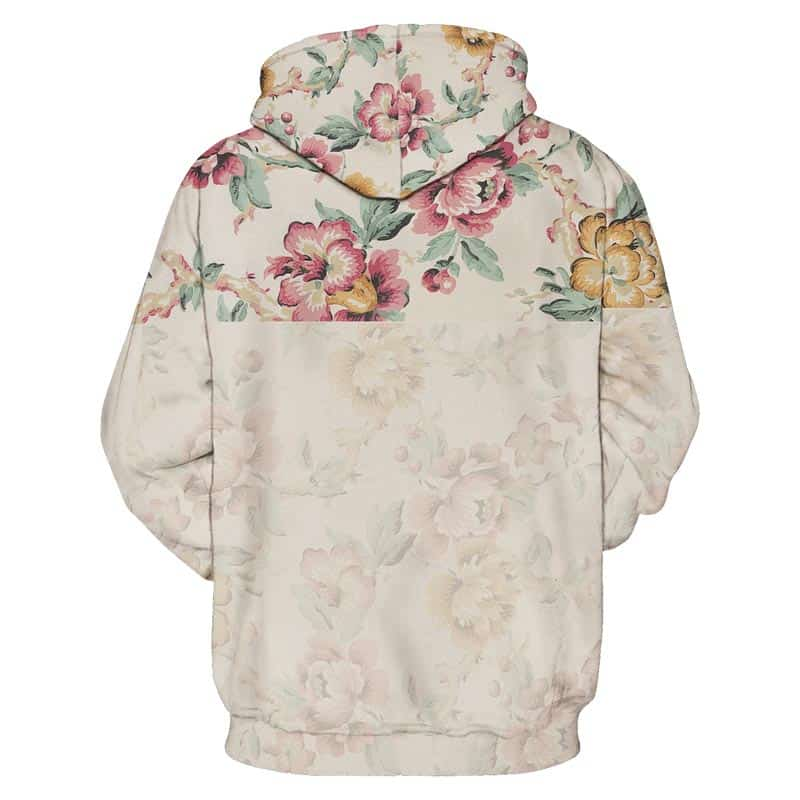 Chill Hoodies Sweatshirts Men Women Kids Adult Faded Floral Hoodie Print 1