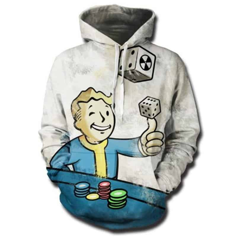 Chill Hoodies Vault Boy Fallout Hoodie Gaming Franchise Unisex Adult Sweatshirt