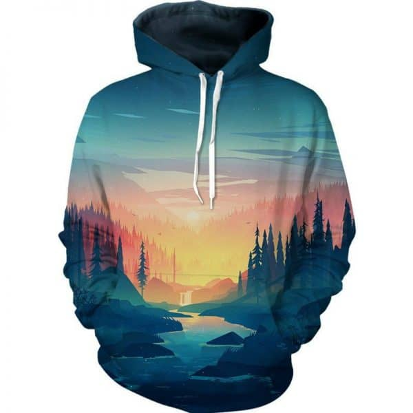 Chill Hoodies Forest Sunrise Hoodie Beautiful Natural Landscape Unisex Adult Sweatshirt