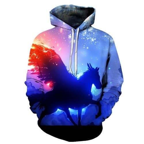 Chill Hoodies Pegasus Unicorn Hoodie Unisex Adult Sweatshirt