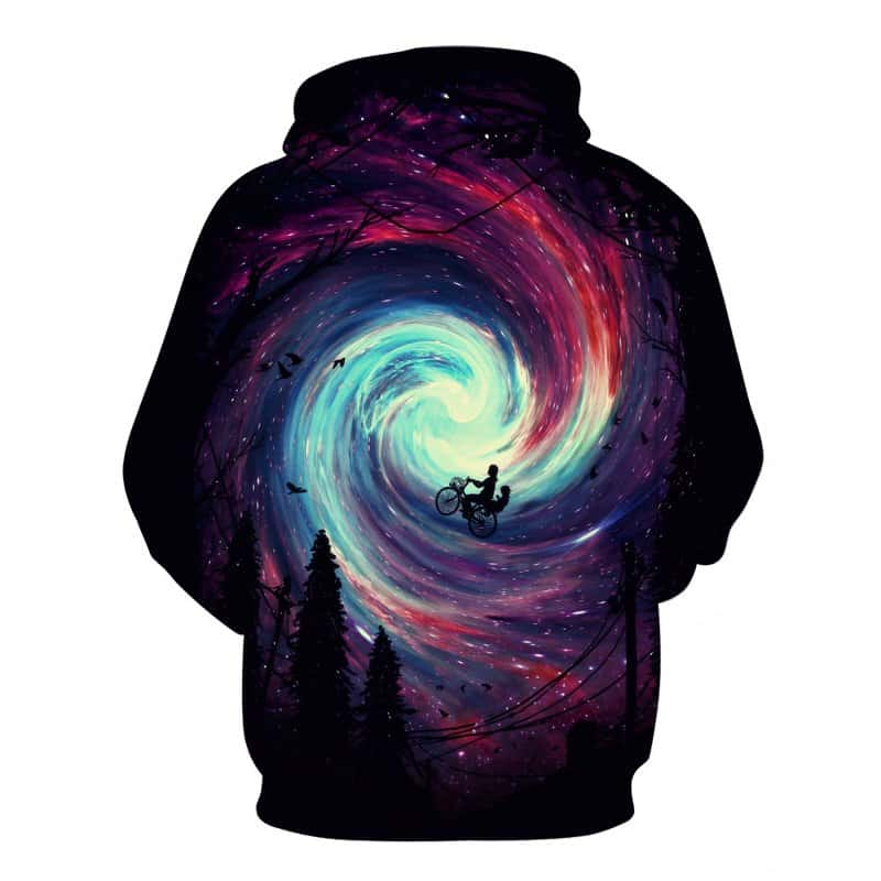 galaxy vortex cycling hoodie