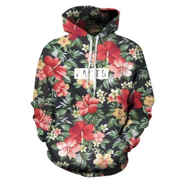 Chill Hoodies Hipster Floral Pattern Hoodie Facts Unisex Adult Sweatshirt