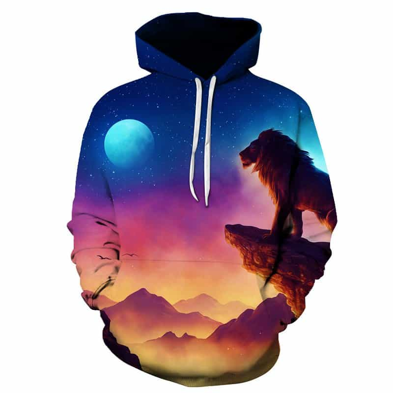 Chill Hoodies Lion King Hoodie Full Moon Unisex Adult Sweatshirt