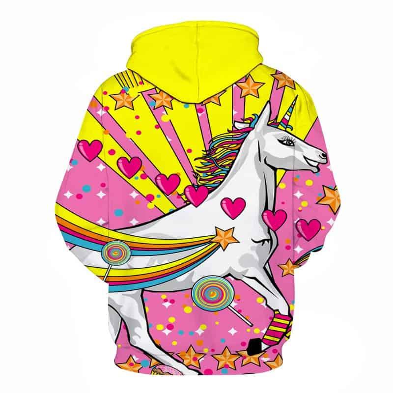 majestical pink unicorn hoodie