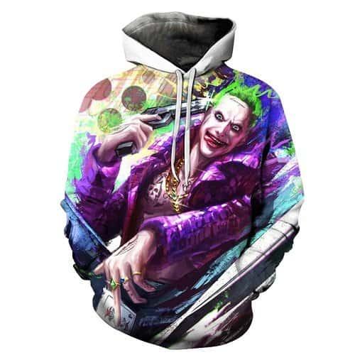 Chill Hoodies Suicide Squad Joker Hoodie Gerard Butler Unisex Adult Sweatshirt
