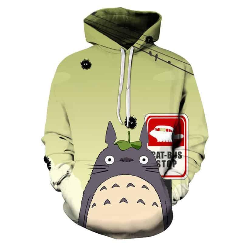 Chill Hoodies My Neighbour Totoro Hoodie Totoro Studio Ghibli Cat Bus Stop Unisex Adult Sweatshirt
