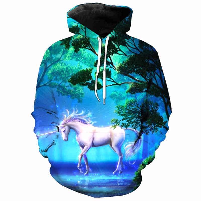 Chill Hoodies Unicorn Hoodie Unisex Adult Sweatshirt
