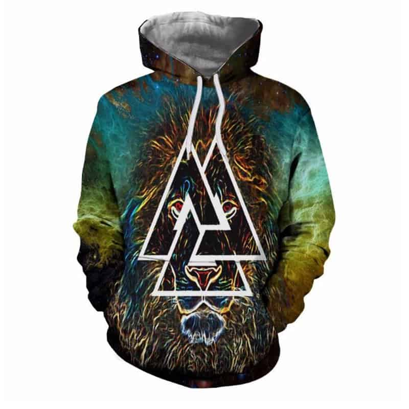 Chill Hoodies Moss Lion Triangle Hoodie Unisex Adult Sweatshirts