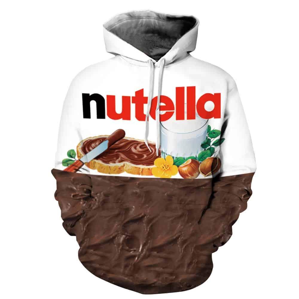 Chill Hoodies Nutella Hoodie Chocolate Spread Unisex Adult Sweatshirt