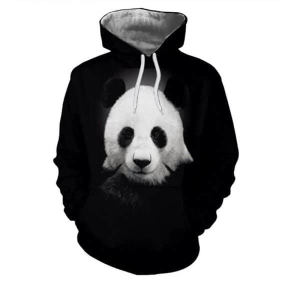 Chill Hoodies Dark Panda Hoodie Unisex Adult Pandas Sweatshirt