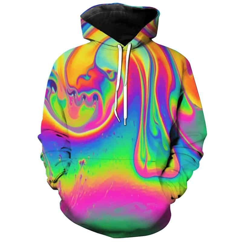 Chill Hoodies Psychedelic Colors Hoodie Unisex Adult Sweatshirt