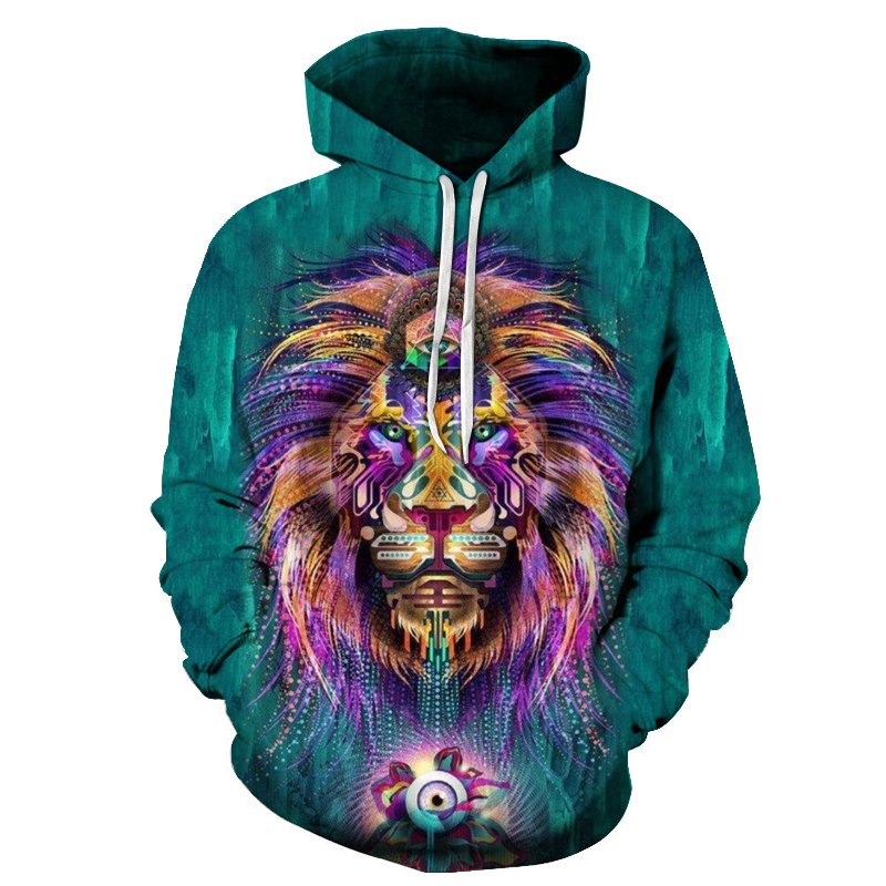psychedelic lion hoodie