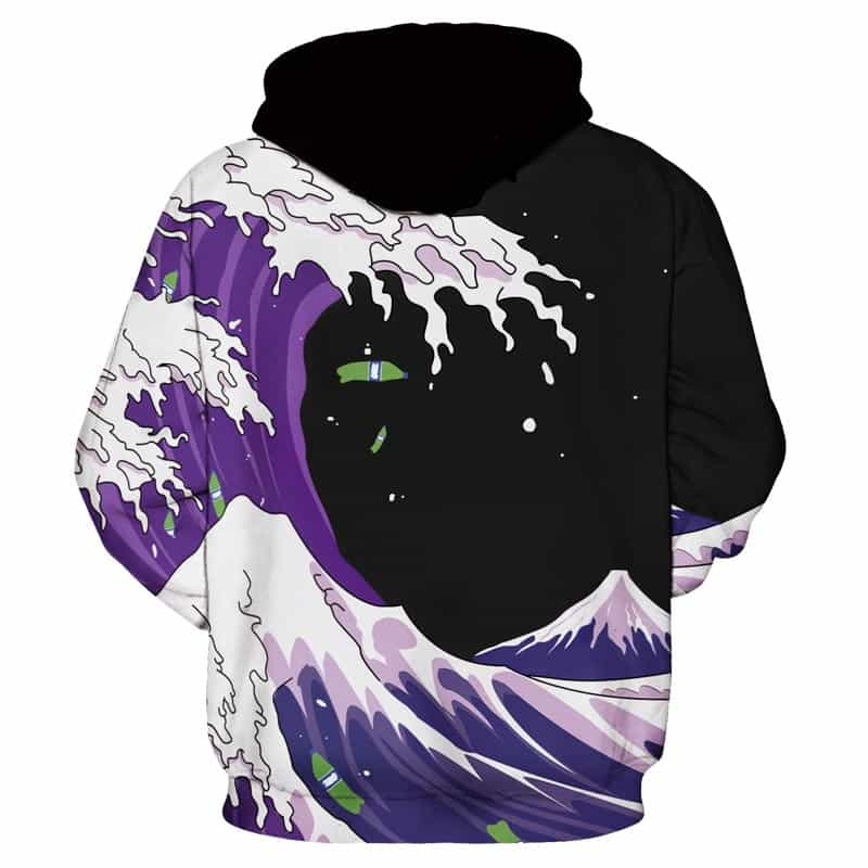 Chill Hoodies Sweatshirts Men Women Kids Adult Purple Waves Hoodie Concept 1