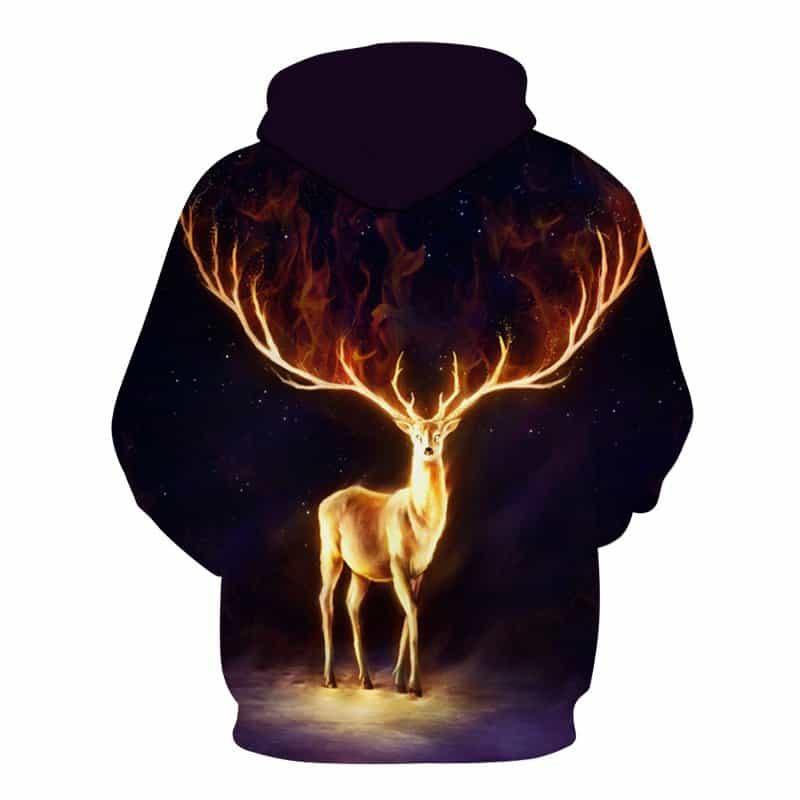 Chill Hoodies Sweatshirts Men Women Kids Adult Radiant Deer Hoodie 1