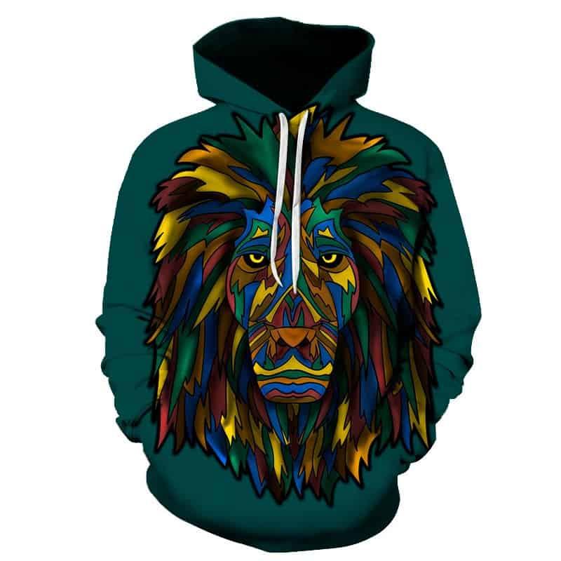 Chill Hoodies Lion Hoodie Abstract Art Unisex Adult Sweatshirt