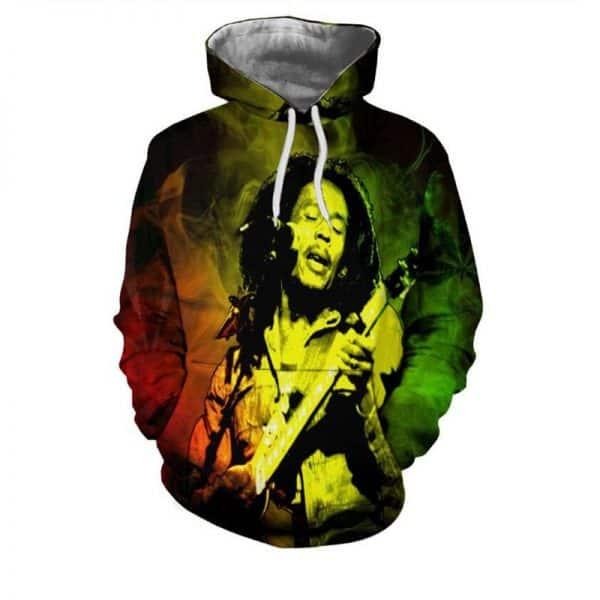 Chill Hoodies Bob Marley Hoodie Reggae Jamaica Unisex Adult Sweatshirt