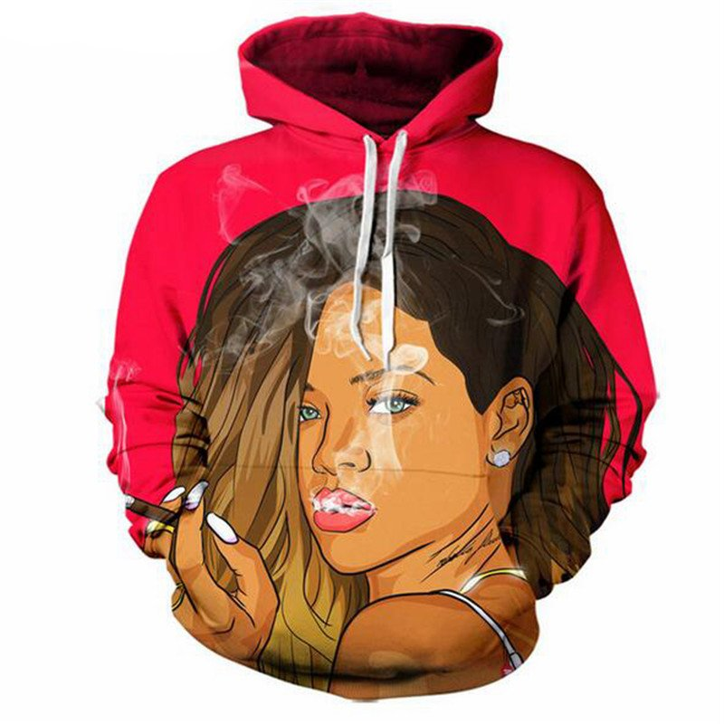 Chill Hoodies Rihanna Hoodie Bad Girl Hip Hop Rap Artist Unisex Adult Sweatshirt