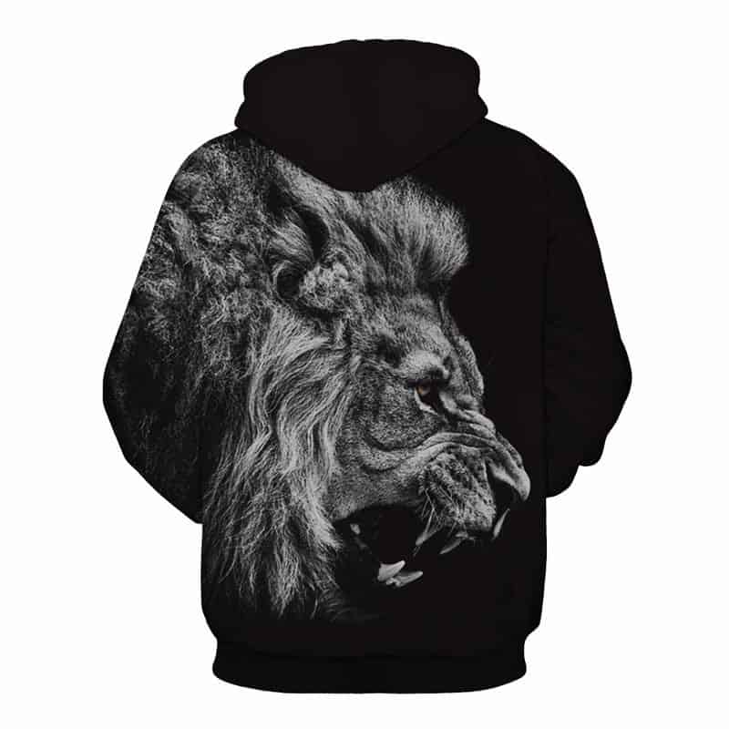 Chill Hoodies Sweatshirts Men Women Kids Adult Black Lion Hoodie Concept 1