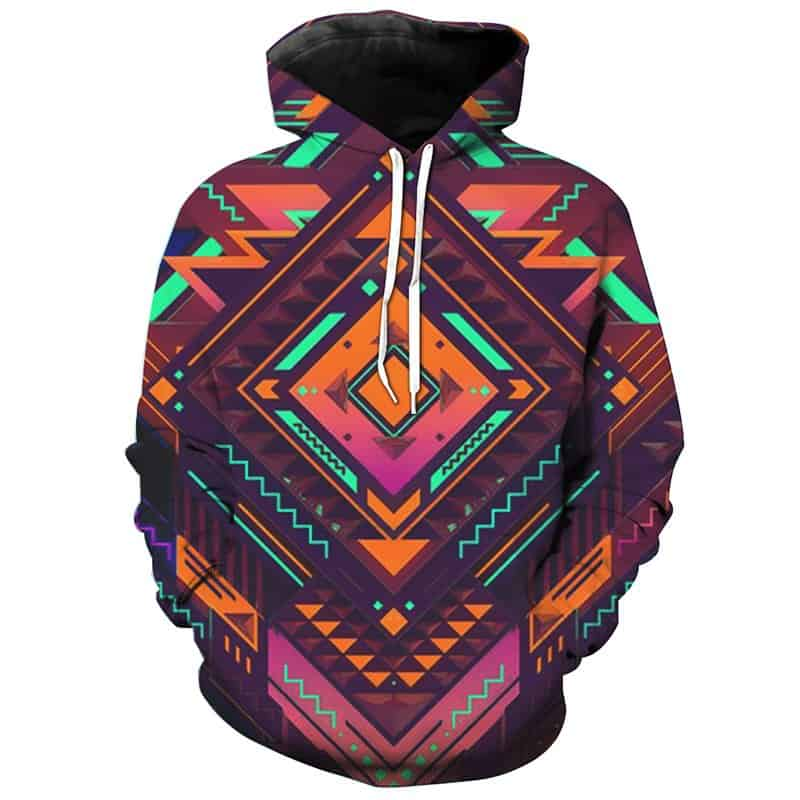Chill Hoodies Geometry Pattern Hoodie Unisex Adult Sweatshirt
