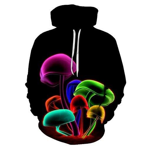 Chill Hoodie Space Shrooms Hoodie Multi Colored Galaxy Mushrooms Unisex Adult Sweatshirt