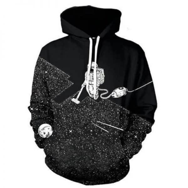 Chill Hoodies Space Vacuum Hoodie Astronaut Galaxy Unisex Adult Sweatshirt
