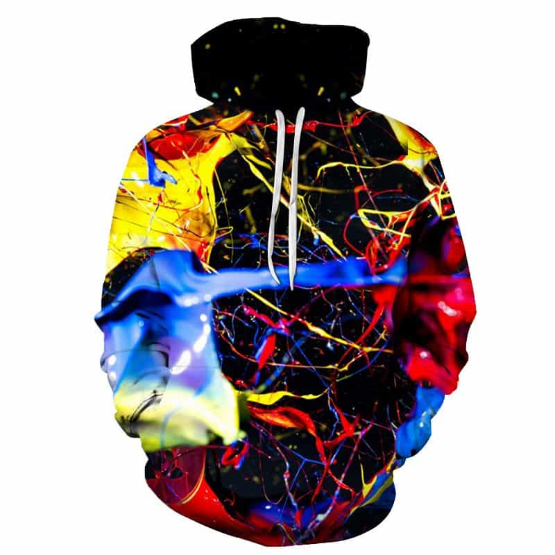Chill Hoodies Splashed Paint Hoodie Unisex Adult Sweatshirt