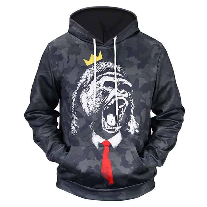 Chill Hoodies King Gorilla Hoodie Unisex Adult Sweatshirt