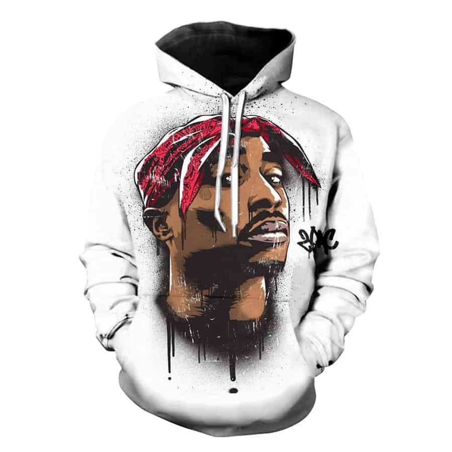 Chill Hoodies White Thug Life Tupac Hoodie 2pac West Side Unisex Adult Sweatshirt