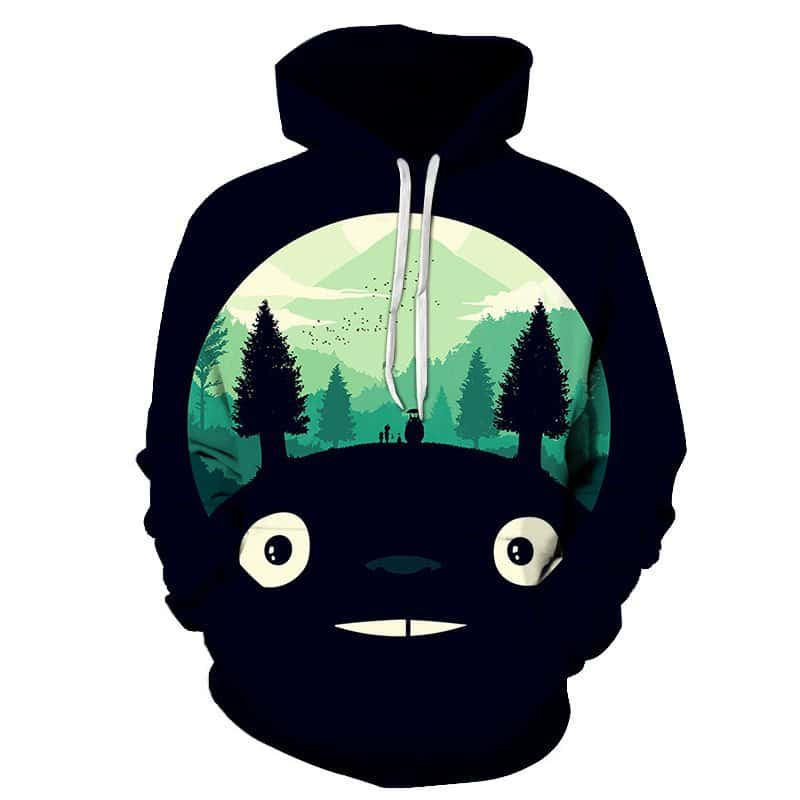 Chill Hoodies Black My Neighbour Totoro Hoodie Totoro World Movie Anime Studio Ghibli Franchise Unisex Adult Sweatshirt