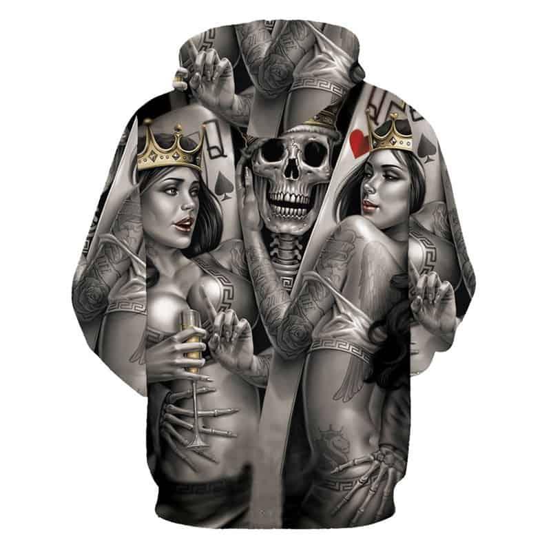 underworld skulls hoodie back