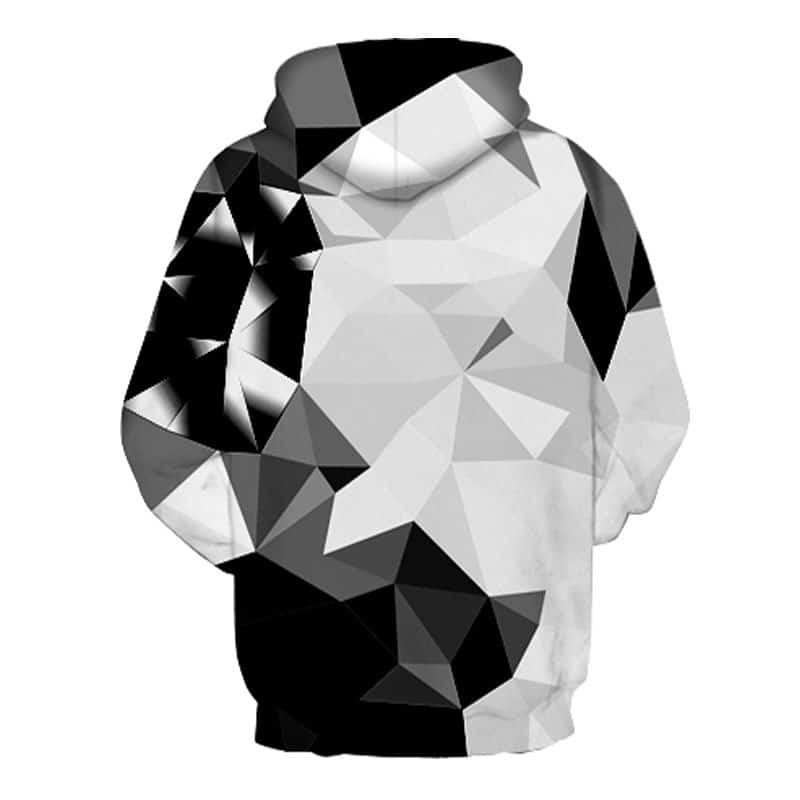 white and black diamond hoodie